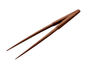 盛り付けトング(自立型) 25cm ウォールナット