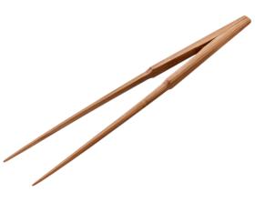 盛り付けトング(自立型) 30cm 竹